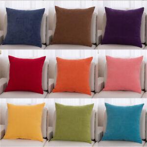 18'' 22'' Plaids Checks Cotton Cushion Cover Throw Pillow Case Home Sofa Décor