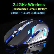 Recargable X7 láser USB inalámbrico óptico LED Mouse para Juego Juegos