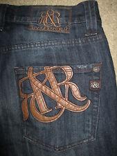 ROCK & REPUBLIC Henlee Straight Leg Button Fly Dark Blue Denim Jeans Men Size 32