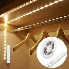 1PC PIR Motion Sensor LED Strip Light Battery Operated for Wardrobe Cabinet Lamp