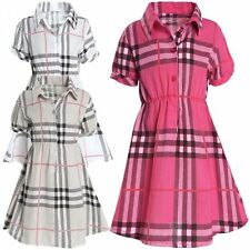 Markenlose knielange Mädchenkleider aus Baumwollmischung für Party-Anlässe