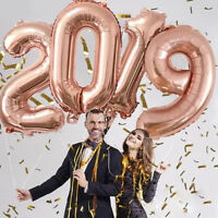 2019 Happy New Year Gold Foil Balloons Eve Party Merry Christmas Decorations New
