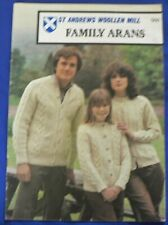 St Andrews Woollen Mill 'Family Arans' Knitting Booklet no 566[He]