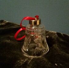 Ornament Waterford Crystal Millenium 5 Toast Bell Ornament with Red Ribbon