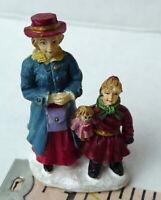 Grandeur Noel Mother and Daughter Victorian Christmas Village  2001 Miniature