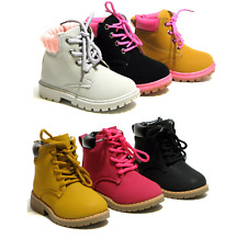 New Baby Toddler Girls Lace Up Ankle Boots Casual Shoes 3 Colors Size 4-11