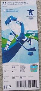 2010 Olympic men's hockey full ticket (Russia vs. Czech Republic) Ovechkin, Jagr