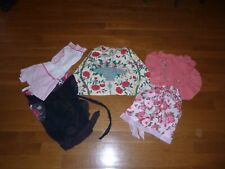 Vintage Half Apron Lot of 5 Fancy Aprons Print Embroidered and Organdy