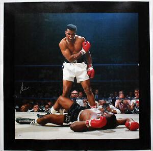Muhammad Ali Authentic Signed 30x30 Canvas Vs. Sonny Liston PSA/DNA Itp #5A26536