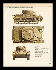 VINTAGE 1978 AMERICAN M22 LIGHT TANK  WORLD WAR II SPEC-SHEET