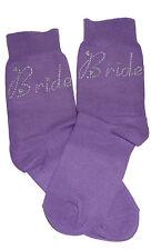 Purple Bride AB Diamonte Crystal Socks