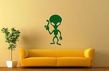 Wall Sticker Vinyl Decal UFO Alien Humanoid Extraterrestrial (ig1141)