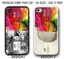 Smart Left Brain Right Brain Case - Rubber Silicone Case For iPhone X 8 7 6 SE 5
