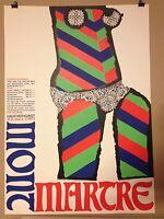 POP ART POSTER PLAKAT FASCHING MÜNCHEN 1973 MONTMARTRE HAUS DER KUNST