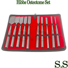 10 Pcs Set Hibbs Osteotome Orthopedic Surgical Instruments