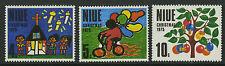Niue  1975   Scott #   174-176     Mint Never Hinged Set