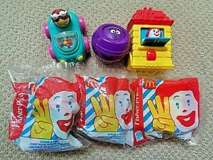 McDonald's Characters Fisher-Price Under 3 Happy Meal Toys 3X