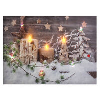 Christmas LED Light Up Canvas Sweet Home Decor Picture Decor Wall Mount
