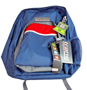 "TRANS BY JANSPORT 17"" BACKPACK 15"" LAPTOP SLEEVE FITS 7-8 BOOKS NAVY BLUE RED"