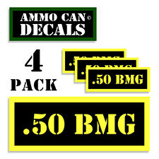 .50 BMG Ammo Can Label 4x Ammunition Case stickers decals 4 pack YW MINI 1.5in
