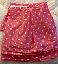Pottery Barn Teen Twin Pink Polka Dot Bed Skirt DustRuffle W Matching-Pillowcase