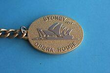 Sydney Opera House Silver on Gold Keyring Keychain