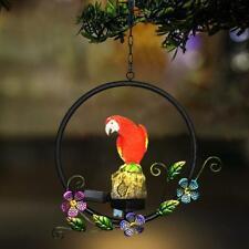 Solar Power LED Parrot Hanging Lamp Waterproof Yard Decorative Garden Light