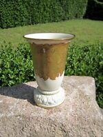 wunderschöne Porzellan Vase Rosenthal Selb Bavaria florales Golddekor weiß 14 cm