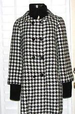ALICE + OLIVIA Houndstooth Coat w Sweater cuffs collar MEDIUM NEW