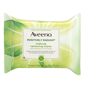 2 Aveeno Positively Radiant Oil-Free Makeup Removing Wipes to Help Even Skin Ton