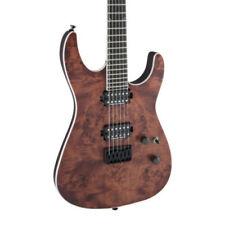 Guitares électriques marrons bois massif