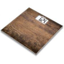 Bascula de peso baño de vidrio BEURER GS203 efecto madera