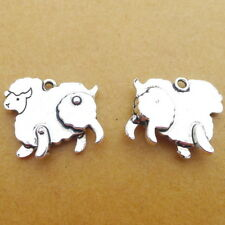 10pcs Charms Farm Sheep Animals Tibetan Silver Beads Pendant DIY Bracelet20*17mm