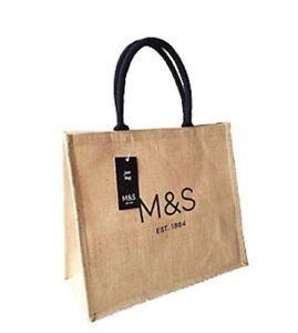M&S Marks & Spencer jute tote bag Shopping Tote Bag BNWT