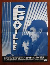 ALPHAVILLE Original French Movie Poster R80s Jean-Luc Godard Anna Karina