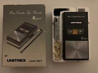Vintage Unitrex Micro Cassette Tape Player Recorder Model MC7 Made In Japan
