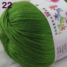 Sale New 1Ball x 50g Cashmere Silk Wool Hand Knit Wrap Shawls Crochet Yarn 22