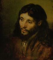 Rembrandt Head Of Christ Fine Art Print on Canvas Religious Home Decor Small