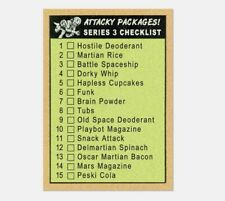 2020 Topps Wacky Packages On Demand Mars Attacks Complete Set 15/15 NM