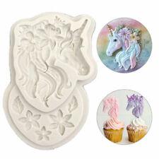 Unicorn Animal Fondant Mold Cake Decor Chocolate Baking Mould Tool Chic OHyJu