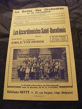 Partition Les accordéonistes Saint Quentinois Emile Van Herck