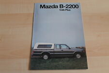 89705) Mazda B 2200 Cab Plus - Österreich - Prospekt 06/1995
