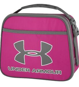 Under Armour Lunch Box Cooler Thermos Travel Food Bag Kids School  Pink/Gray