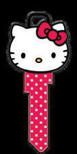 "HELLO KITTY "" Head Shape "" House Key Blank Kw1 KWIKSET SANRIO TV"