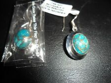 BNWT, 925 SILVER EARRINGS, ROYAL BALI, MOHAVE BLUE HOOK DROPPERS - GORGEOUS!!