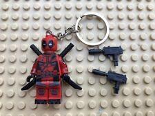 Marvel Deadpool Mini-Figure Keyring / Keychain UK SELLER
