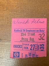 1973 New York Knicks v Boston Celtics Basketball Ticket Phil Jackson 20 points