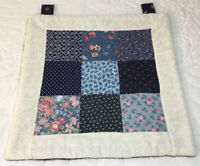 Patchwork Quilt Wall Hanging, Nine Patch, Floral Calico Prints, Hand Quilted