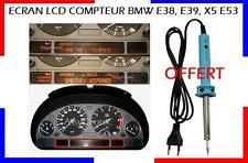 KIT ECRAN LCD AFFICHEUR + LE FER OFFERT pour COMPTEUR de BMW E38, E39, X5 E53 ..