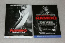 Rambo: Last Blood  (2019) - Polish promo FLYER - ULOTKA